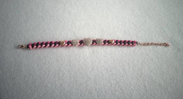 Bracelet fantaisie en lanière tressée de style africain