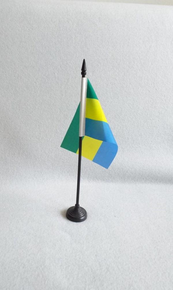 Drapeau africain du Gabon en miniature