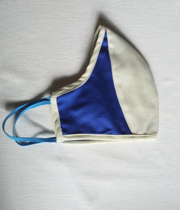 Masque de protection blanc et bleu importé de Libreville
