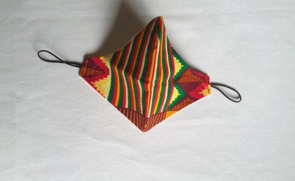 Masque de protection respiratoire en tissu wax africain