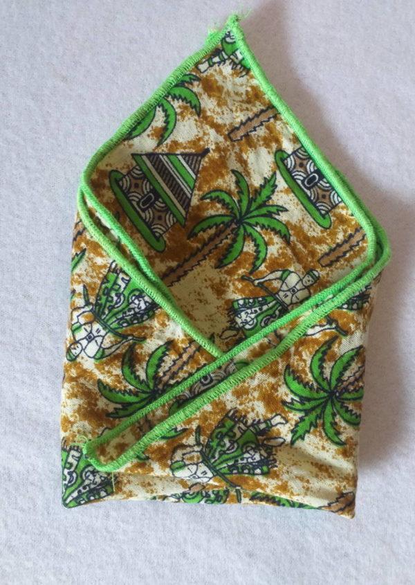 Serviettes de table en tissu wax africain