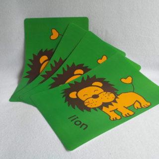 Set de table Lion d'Afrique pour enfant