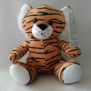 Peluche doudou tigre en velboa