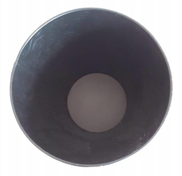 Corbeille à papier design en métal noir doré pour le bureau